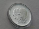 100 крон 2004 г. 100 лет Независимости Норвегия. Серебро. Футляр., фото №4