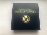 5 долларов 2011 года. США. Медаль за отвагу., фото №6
