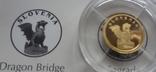 12 долларов 2008 Либерия Золото 999,9 Словения дракон (Страны европы) тираж 1000 шт, фото №6