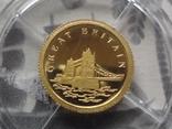 12 долларов 2008 Либерия Золото 999,9 Британия ТАУЭРСКИЙ МОСТ  (Страны европы), фото №2