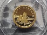12 долларов 2008 Либерия Золото 999,9 Британия ТАУЭРСКИЙ МОСТ  (Страны европы), фото №3