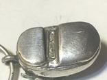 Кулон сапог з емалю срібний 800п, фото №6