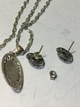 Кулон і сережки, фото №4