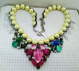 Ожерелье с жемчугом и камнями Swarovski, RADA ITALY. 135 грамм, фото №2
