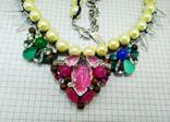 Ожерелье с жемчугом и камнями Swarovski, RADA ITALY. 135 грамм, фото №3