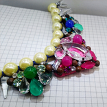 Ожерелье с жемчугом и камнями Swarovski, RADA ITALY. 135 грамм, фото №4
