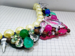 Ожерелье с жемчугом и камнями Swarovski, RADA ITALY. 135 грамм, фото №6