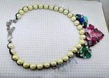 Ожерелье с жемчугом и камнями Swarovski, RADA ITALY. 135 грамм, фото №7