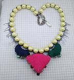 Ожерелье с жемчугом и камнями Swarovski, RADA ITALY. 135 грамм, фото №8