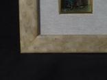 Картина миниатюра из серебра 800 с ручной росписью, фото №7