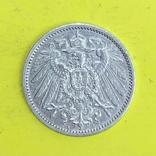 Німецька імперія 1 марка, 1908р. Срібло., фото №3