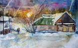 Зимний вечер в деревне, фото №2