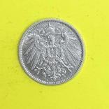 Німецька імперія 1 марка, 1905р. Срібло., фото №3