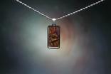 Кулон у формі прямокутника із залізо-камяним метеоритом Seymchan, з сертифікатом, фото №4