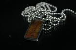 Підвіска із залізо-камяним метеоритом Seymchan, з сертифікатом, фото №6