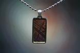 Підвіска із залізо-камяним метеоритом Seymchan, з сертифікатом, фото №2