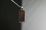 Підвіска із залізо-камяним метеоритом Seymchan, з сертифікатом, фото №5