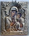 Ікона Іверська Богородиця, латунь, 17,8х14,7 см, фото №2
