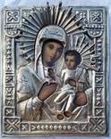 Ікона Іверська Богородиця, латунь, 17,8х14,7 см, фото №3