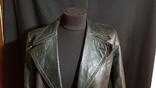 Немецкий зеленый кожаный плащ. размер М, фото №3