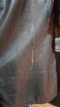 Немецкий зеленый кожаный плащ. размер М, фото №4