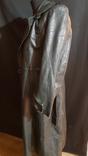 Немецкий зеленый кожаный плащ. размер М, фото №7