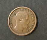 Дания 1 скиллинг 1853 г. Фредерик VII, фото №2