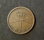 Дания 1 скиллинг 1853 г. Фредерик VII, фото №3