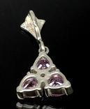 Кулон, розовые камни, фото №3