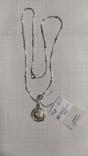Серебренная цепочка с кулоном., фото №2