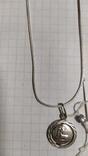 Серебренная цепочка с кулоном.2., фото №4