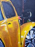 Картина маслом 20х30 Желтый Жук, фото №3