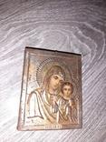 Казанская икона Божией Матери 19век 7*9см, фото №2