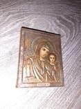 Казанская икона Божией Матери 19век 7*9см, фото №3