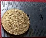 2 рубля золотом 1714 року ПетроІ. Копія - не магнітна позолота 999, фото №3