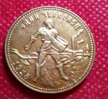 10 рублів золотом 1925 року . Копія - не магнітна позолота 999, фото №2