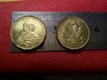 5 рублів золотом 1755 року . Копія - не магнітна позолота 999, фото №3