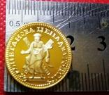 2 рублі 1726  року РОСІЯ /КатеринаІ   -копія золотої- не магнітна, /поЗОЛОТА 999/, фото №4