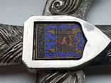 Нож для бумаги вставка герб Carcassonne эмаль, фото №4