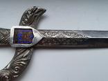 Нож для бумаги вставка герб Carcassonne эмаль, фото №6