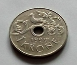 Норвегия 1 крона 1999 г., фото №3