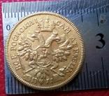 2 рублі 1711 року РОСІЯ  -копія золотої- не магнітна,  по ЗОЛОТА 999/, фото №2