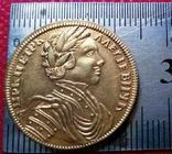 2 рублі 1711 року РОСІЯ  -копія золотої- не магнітна,  по ЗОЛОТА 999/, фото №3