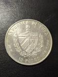 Куба 10 песо 1994 год 20 грамм серебро 999, фото №3