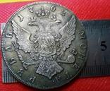 1  РУБЛЬ 1762 року Росія. Копія. не магнітна- посрібнена. лот 1штука, фото №3