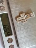 Крестик нательный. Серебро 925., фото №8