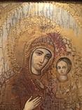 Икона Богородицы Тихвинская рамка, позолота, фото №3
