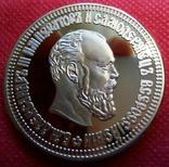 10 рублів золотом 1886 року . Копія -   позолота 999, фото №2