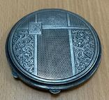 Серебряная пудреница 800 пробы, фото №2