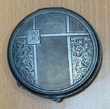 Серебряная пудреница 800 пробы, фото №3